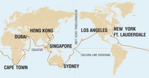 Holland America Lines World Cruise Map