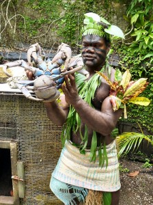 """Cannibal"" holding Coconut Crab"