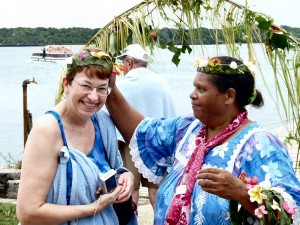 Janice Being Greeted by a New Caledonian