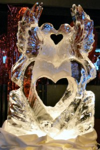 St. Valentine's Day Ice Sculpture