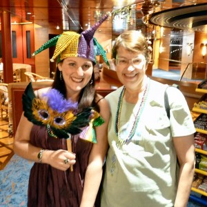 Lori (Event Staff) and Janice (Real Mardi Gras Beads)