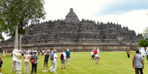 Approach to Borobudur