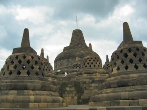 Four levels of Stupas