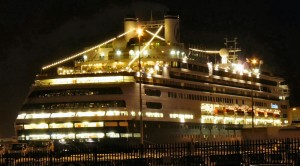The ms Rotterdam at Night