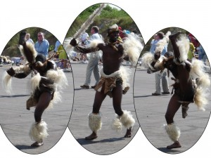 Zulu Dancer Highkicking Left then Right