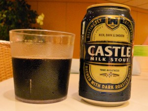 Enjoying Some Castle Milk Stout back on the Rotterdam
